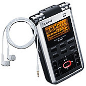 Roland R-05 Digital Pocket Recorder With Built In Stereo Mics Includes Free Boss BA-PC15 Earphones Worth £40.00