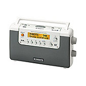 Roberts Radio DAB/FM Radio with SD Card Recording & 4 Record Timers - White