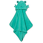 B Baby's Hooded Bath Towel - Frog