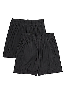 F&F School 2 Pack of Boys Sports Shorts - Black