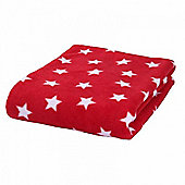 Clair de Lune Star Fleece Pram Blanket (Red)