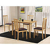 G&P Furniture Torino 5 Piece Rectangular Dining Set
