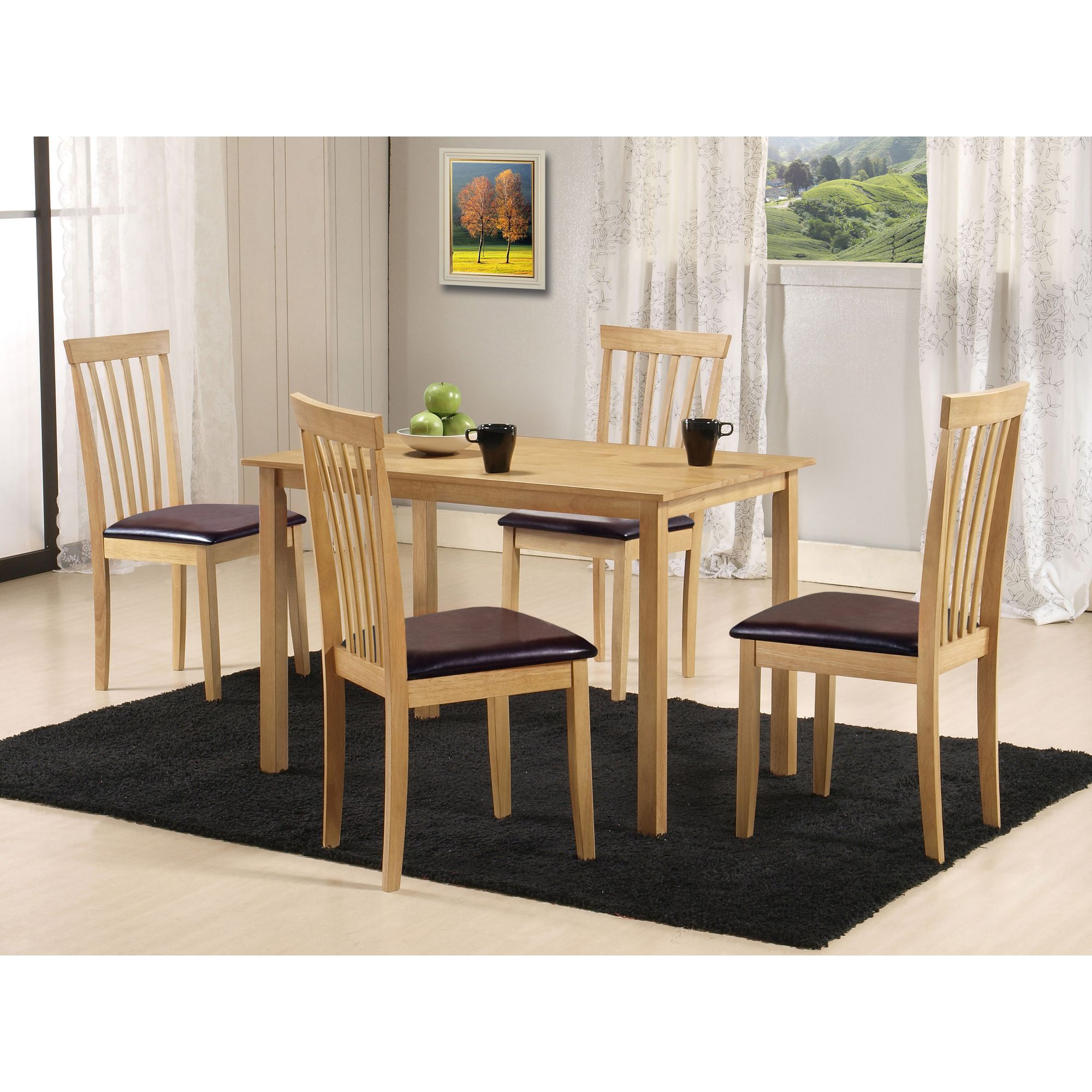 G&P Furniture Torino 5 Piece Rectangular Dining Set at Tesco Direct
