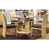 Jual JF603 Oak Dining Table and 4 Chairs