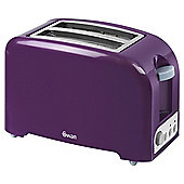 Swan 2 Slice Toaster - Purple