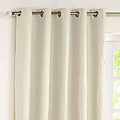 Rectella Jazz Natural Lined Eyelet Curtains -229cm x183cm
