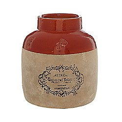 Linea Highlands Stamped Ceramic Vase