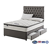 Silentnight Wensley Divan Bed with 4 Drawers, Miracoil Luxury Pillow Top