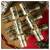 Holly and Foliage Christmas Crackers, 12 pack
