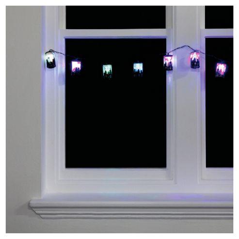 Tesco 10 LED City Skylines Lights, Multi-Coloured
