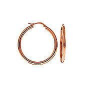 QP Jewellers Monarch Hoop Earrings in 14K Rose Gold
