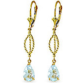 QP Jewellers 3.0ct Aquamarine Sceptre Earrings in 14K Gold