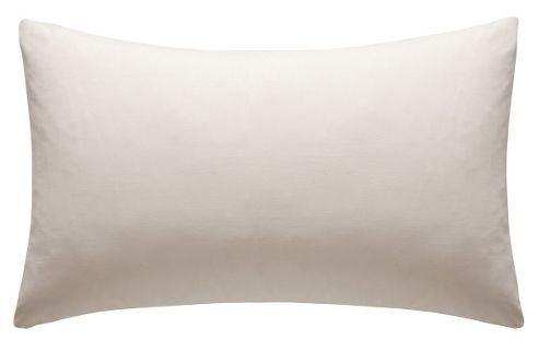 Catherine Lansfield Non Iron Percale Combed Poly-Cotton Sheets Box Pleated Fitted Valance Sheet in Cream - Double