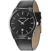 Police Target Mens Leather Date Watch 14211JSB-02A