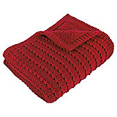 Tesco Knotted Knit Throw, Red