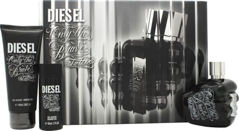 Buy diesel only the brave tattoo gift set 75ml edt 50ml for Diesel only the brave tattoo gift set 50ml