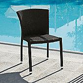 Varaschin Cafeplaya Dining Chair by Varaschin R and D (Set of 2) - Dark Brown - Panama Castoro