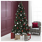 Festive Instant Christmas Tree with Hinged Branches, 6.9ft