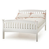 Serene Furnishings Eleanor High Foot End Bed - Single - Opal White