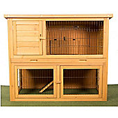 Wooden Double Level Rabbit Hutch