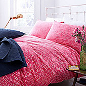 Red Polka Duvet Cover Double