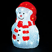 30cm Snowman with 40 Ice White Static LEDs
