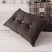 Gallery Button Cushion - Mocha