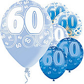 60th 12' Latex Balloons (6pk)