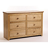 Home Essence Hamilton 3 Over 3 Drawer Wide Chest