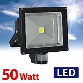 MiniSun IP65 High Powered 50W Daylight LED Floodlight with PIR Sensor