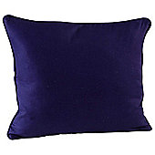 Homescapes Cotton Plain Navy Blue Scatter Cushion, 45 x 45 cm