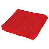 Tesco 100% Combed Cotton Face Cloth Tomato Red
