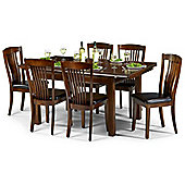 Julian Bowen Canterbury Mahogany Dining Set with 6 Chairs