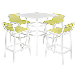 5-Piece Garden Bar Furniture Set, Lime