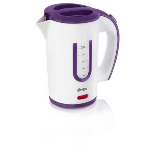 Swan 0.5 L Jug Travel Kettle - Purple & White