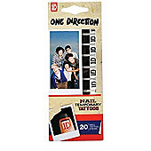 One Direction Nail Temporary Tattoo's, 20 Tattoo Strips Logo 2054