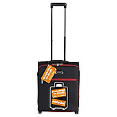 Constellation Guaranteed On Board 2-Wheel Black with Red Trim Suitcase