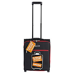 Constellation Guaranteed On Board 2-Wheel Suitcase, Black with Red Trim