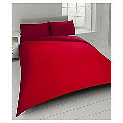Tesco Basics Reversible Double Duvet Set Red