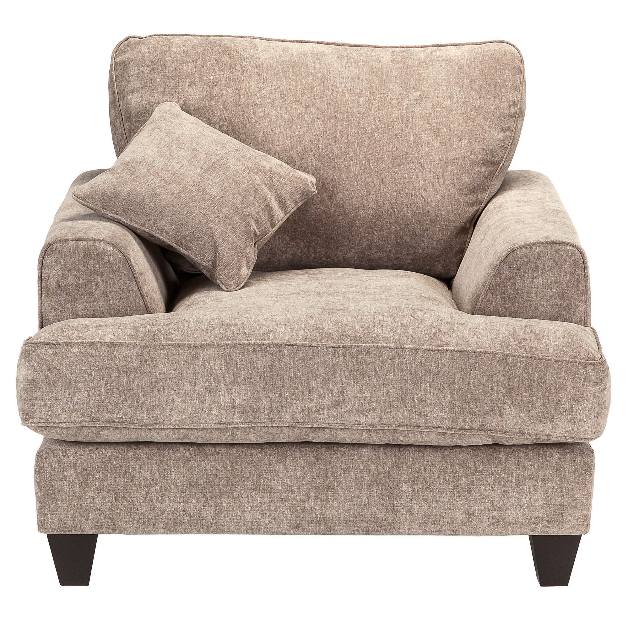 Kensington Fabric Chair Grey at Tesco Direct