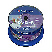 Verbatim 4.75 GB 120 min Inkjet Printable DVD+R 50 Pack