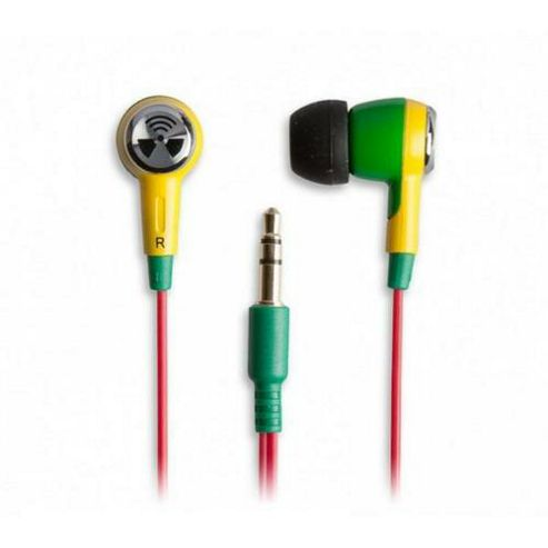 iFrogz Earpollution Ozone Earphones Green, Yellow, Red