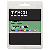 Tesco E807 Multipack (Compatible with printers using Epson T0807 ink cartridge)