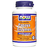 Now Papaya Enzyme 180 Lozenges