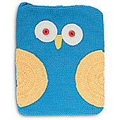 Quirky Character Knitted iPad Cover - Blue Owl