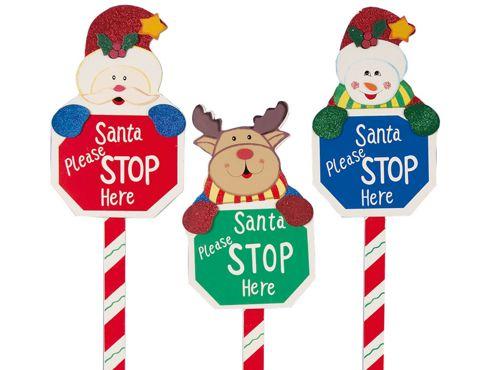 Premdec Ac04106 Santa Please Stop Here Sign