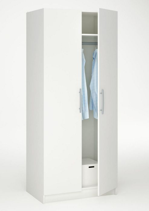 Altruna Washington 2 Door Wardrobe - White