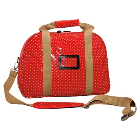 Tesco Small Holdall, Red Polka Dot