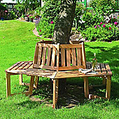 Tree Seat - Solid Wood Garden Tree Bench - Treated Timber