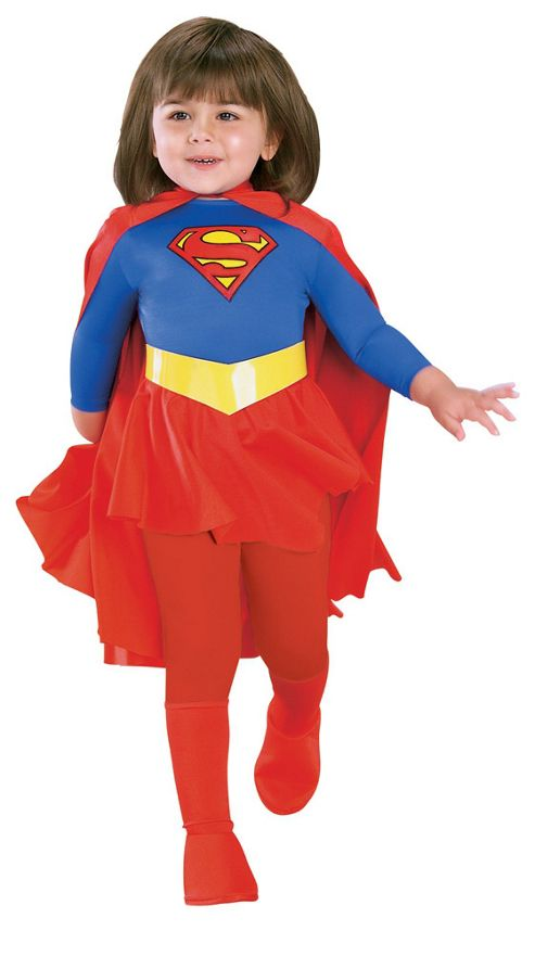 Rubies Fancy Dress - Deluxe Supergirl Costume - Large. UK Size 8-10 Years
